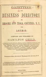 Cover of: Gazetteer and business directory of Broome and Tioga Counties, N. Y. for 1872-3