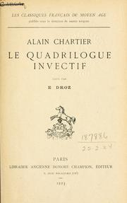 Le quadrilogue invectif by Chartier, Alain