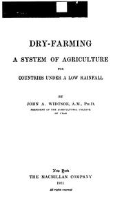 Cover of: Dry-farming | Widtsoe, John Andreas
