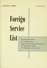 Cover of: Foreign service list. | United States. Department of State.