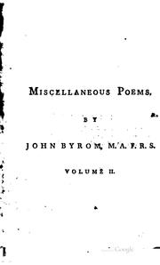 Cover of: Miscellaneous poems