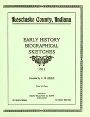 Cover of: Kosciusko County, Indiana by L. B. Hillis