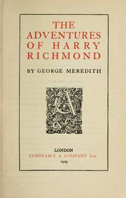 Cover of: The adventures of Harry Richmond. | George Meredith