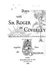 Cover of: Days with Sir Roger de Coverly