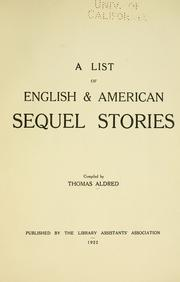 Cover of: A list of English & American sequel stories