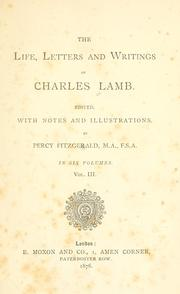 Cover of: The life, letters and writings of Charles Lamb | Charles Lamb