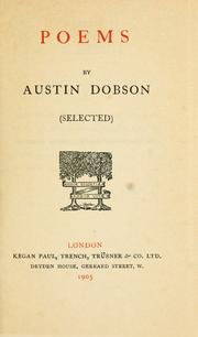 Cover of: Poems (selected) | Austin Dobson