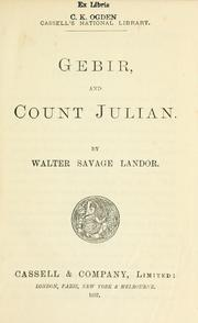 Cover of: Gebir | Walter Savage Landor