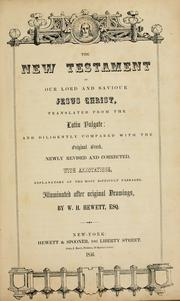 Cover of: The New Testament of our Lord and Saviour Jesus Christ. |