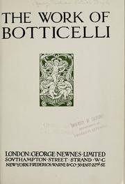 Cover of: The work of Botticelli
