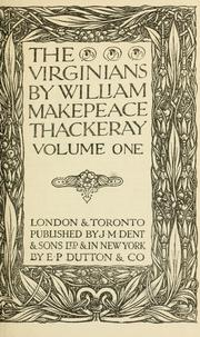Cover of: The Virginians: a tale of the last century
