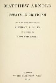 essays by matthew arnold Literature and science by matthew arnold that essay was published in the nineteenth arnold gave the later address presented here in 1883 while in.