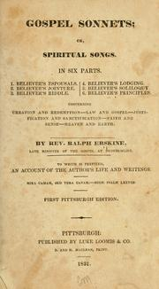 Gospel sonnets, or, Spiritual songs by Erskine, Ralph