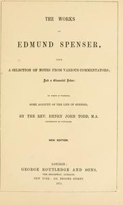 Cover of: The works of Edmund Spenser