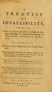 Cover of: A treatise of infallibility | William Harper