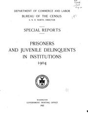 Cover of: Prisoners and juvenile delinquents in institutions 1904. | United States. Bureau of the Census