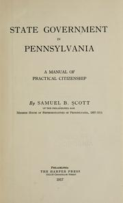 Cover of: State government in Pennsylvania | Samuel Bryan Scott