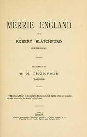 Cover of: Merrie England