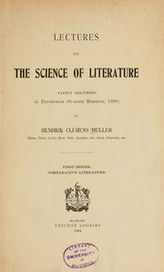 Cover of: Lectures on the science of literature | H. C. Muller