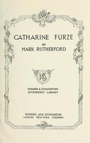 Cover of: Catharine Furze