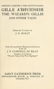Cover of: Gille a' bhuidseir = by Campbell, J. F.