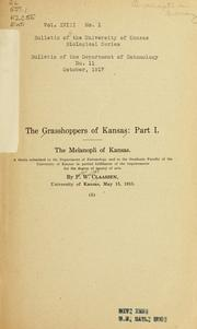 Cover of: The grasshoppers of Kansas