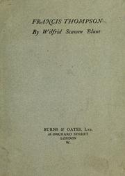 Cover of: Francis Thompson