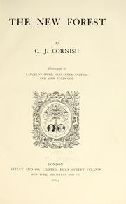 Cover of: The New Forest | C. J. Cornish