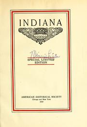 Cover of: Indiana. |