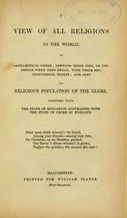 Cover of: A view of all religions in the world in alphabetical order by