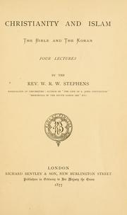 Cover of: Christianity and Islam | W. R. W. Stephens