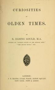 Cover of: Curiosities of olden times