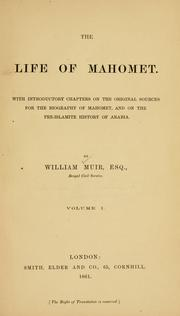 Cover of: The life of Mahomet
