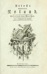 Cover of: Ariosts wüthender Roland