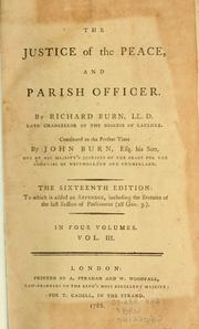 Cover of: justice of the peace | Richard Burn