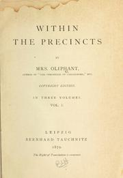 Cover of: Within the precincts