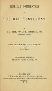 Cover of: The Books of the Kings | Carl Friedrich Keil
