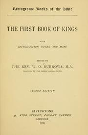 Cover of: The first book of Kings | Burrows, Winfrid Oldfield Bishop of Chichester