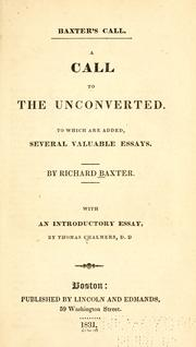 Cover of: A call to the unconverted | Richard Baxter