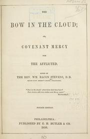 Cover of: The Bow in the Cloud; Or, Covenant Mercy for the Afflicted