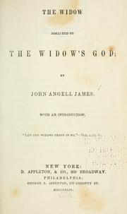Cover of: The widow directed to the widow
