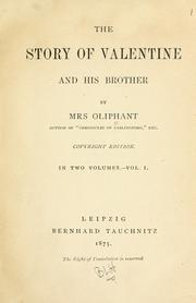 Cover of: The story of Valentine and his brother