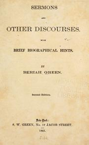 Cover of: Sermons and other discourses