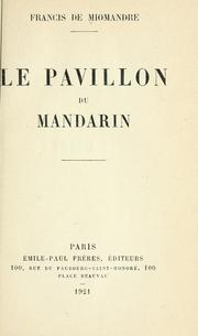 Cover of: Le pavillon du mandarin