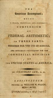 Cover of: The American accomptant | Lee, Chauncey