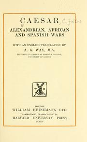 Cover of: Alexandrian, African and Spanish wars