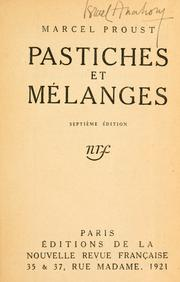 Cover of: Pastiches et mélanges