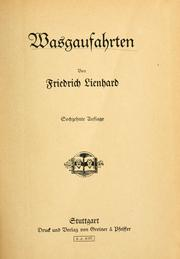 Cover of: Wasgaufahrten