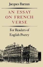 Cover of: An essay on French verse: for readers of English poetry