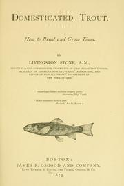 Domesticated trout by Livingston Stone